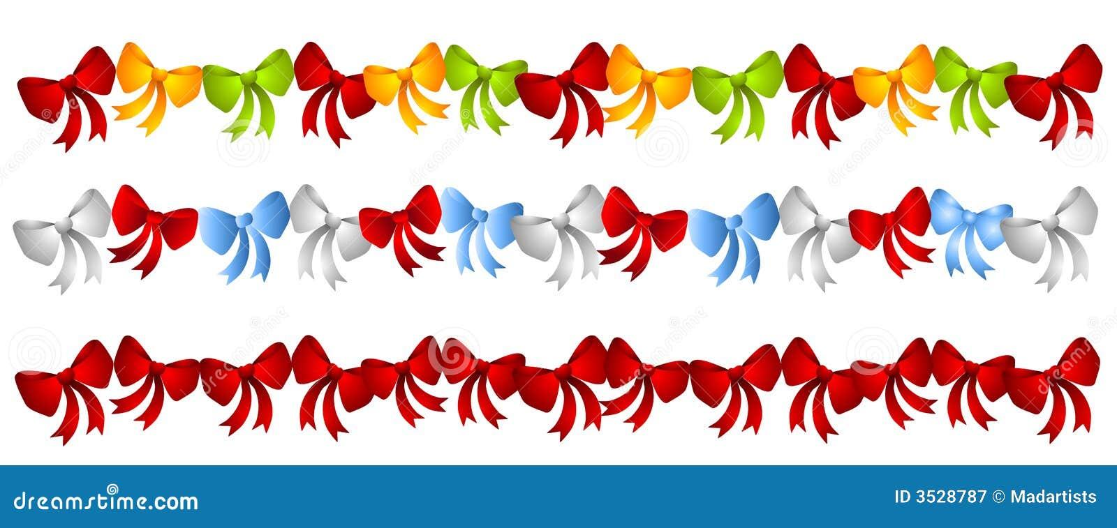 Reihen-bunte Weihnachtsbögen Stock Abbildung - Illustration von ...