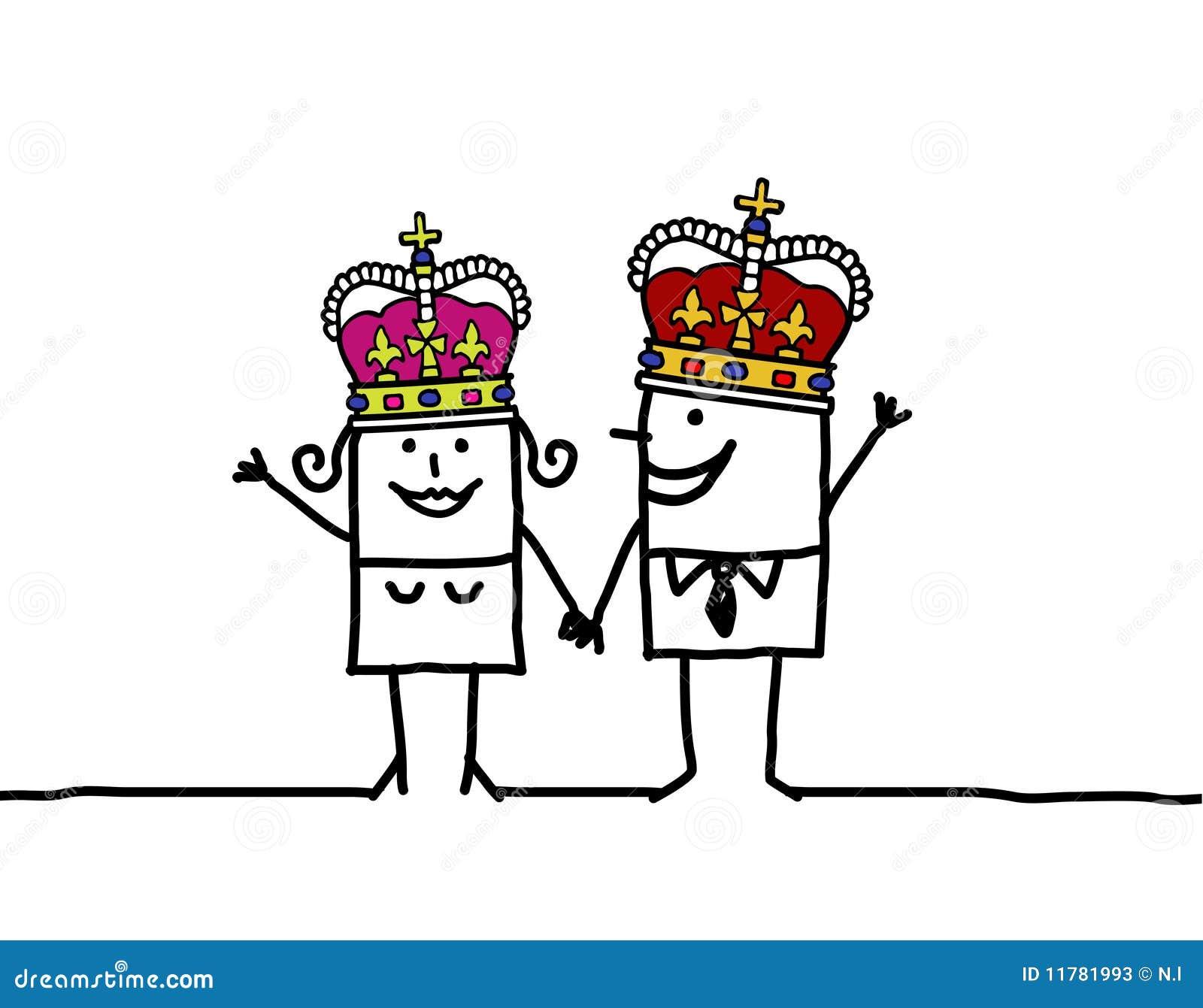 Reina Y Rey Ilustración Del Vector Ilustración De Amantes 11781993