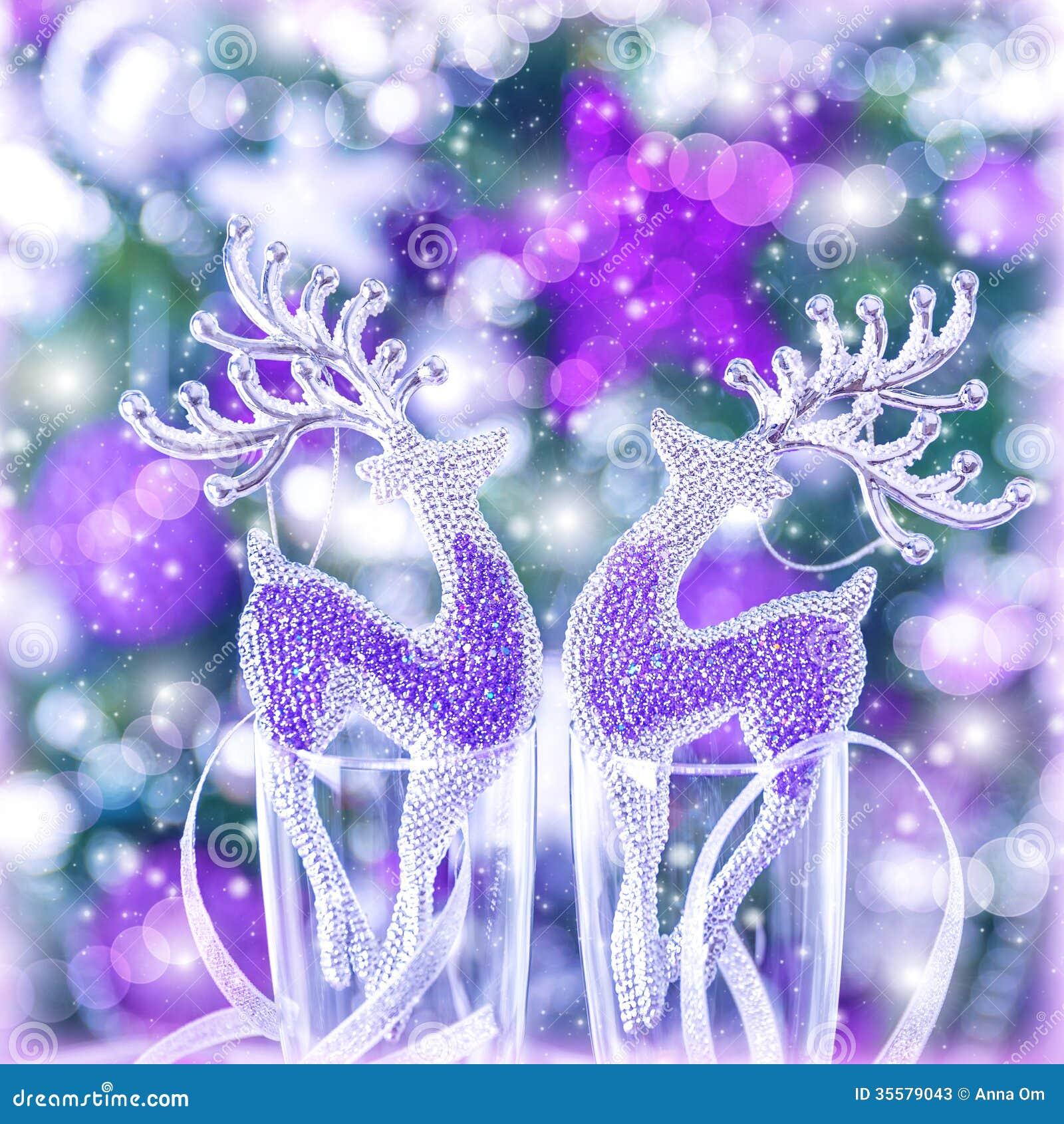 reindeer christmas ornament stock image