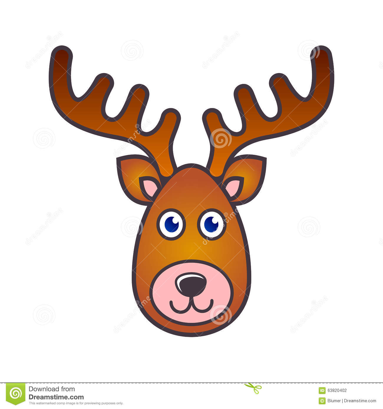 Uncategorized Raindeer Face reindeer face christmas icon stock vector image 63820402 royalty free download face