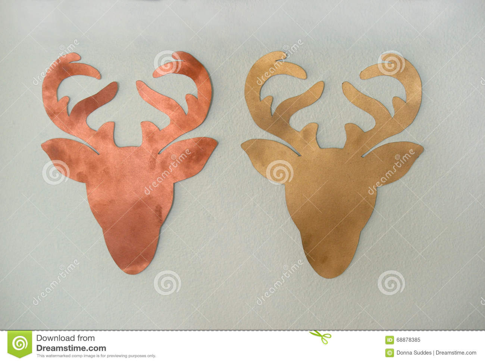 Reindeer cut out card vector illustration cartoondealer for Reindeer template cut out