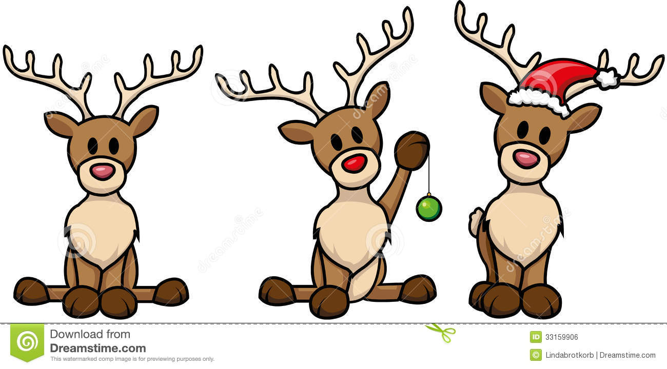 Reindeer Set Stock Vector Illustration Of Bauble Cute