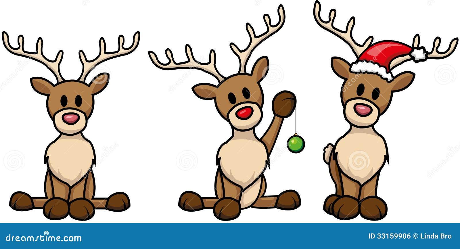 Reindeer-set Royalty Free Stock Image - Image: 33159906