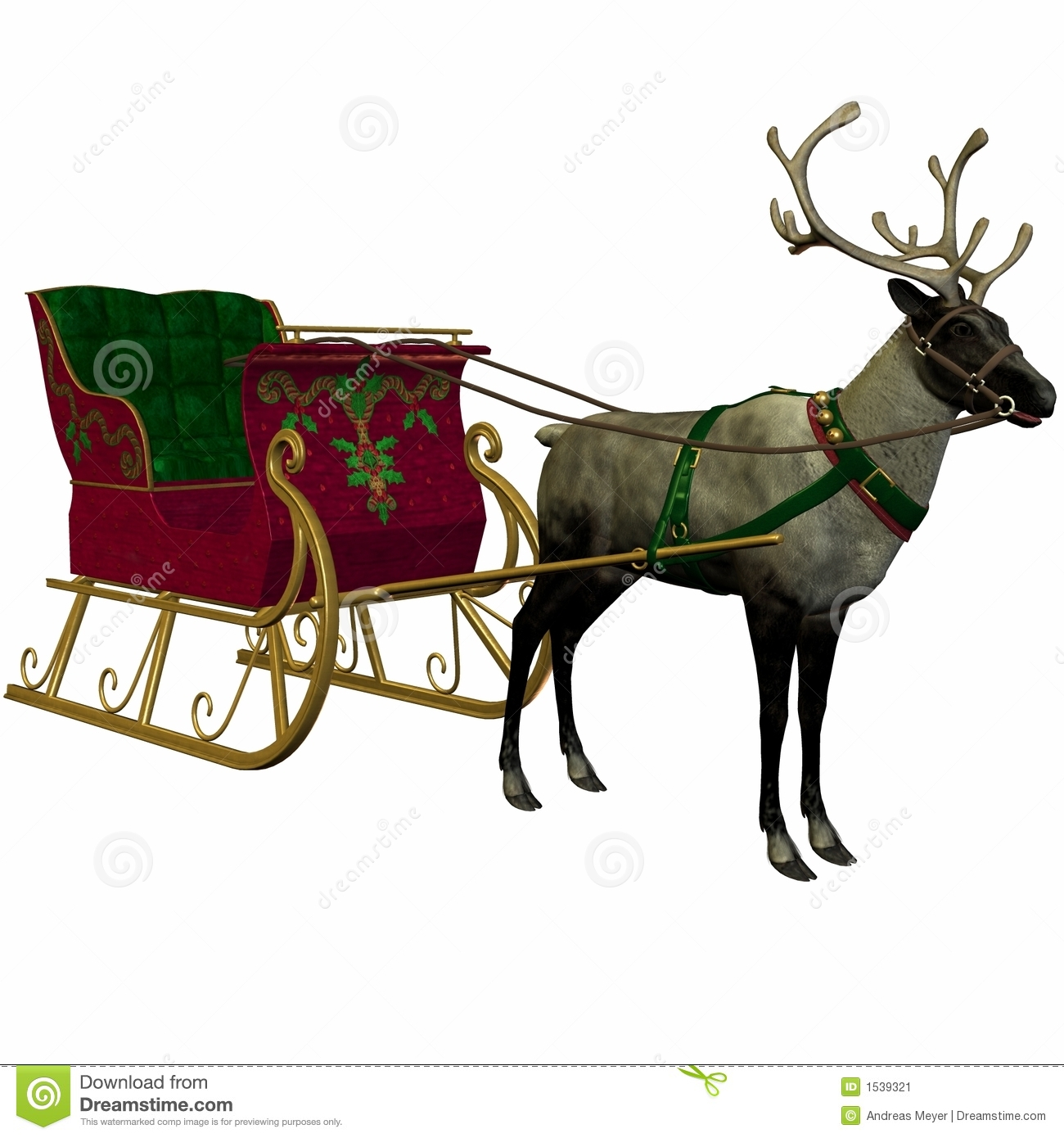 More similar stock images of ` Reindeer and Sleigh `