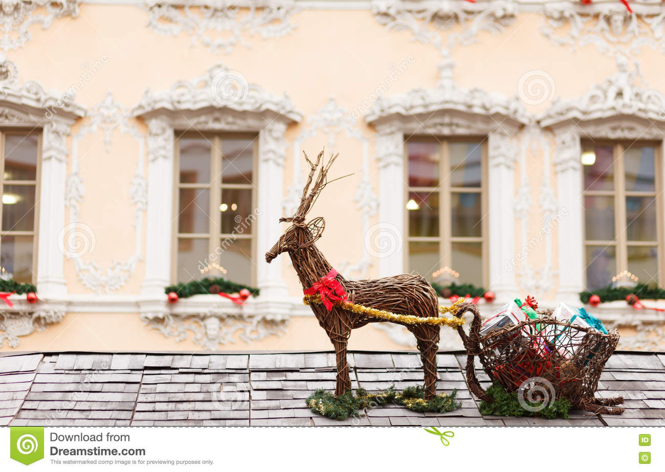 Santa Sleigh Roof Stock Photos Royalty Free Stock Images
