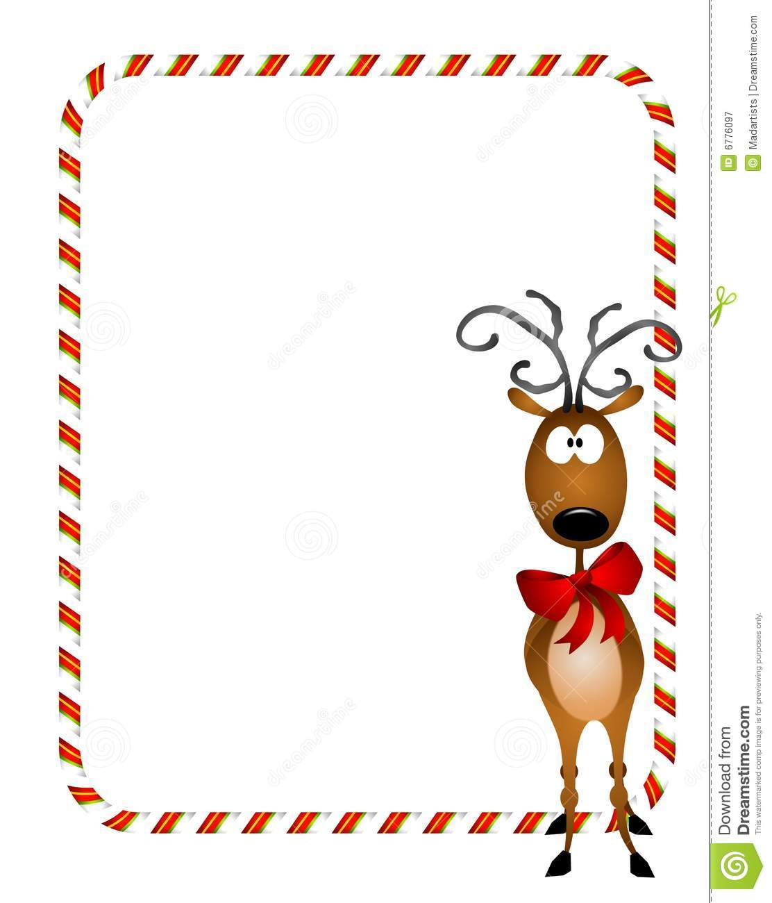 Reindeer Xmas Border Royalty Free Stock Photography - Image: 6776097