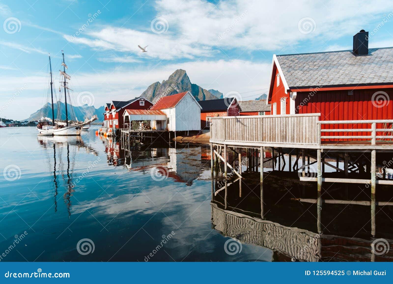 Reine Town em Noruega
