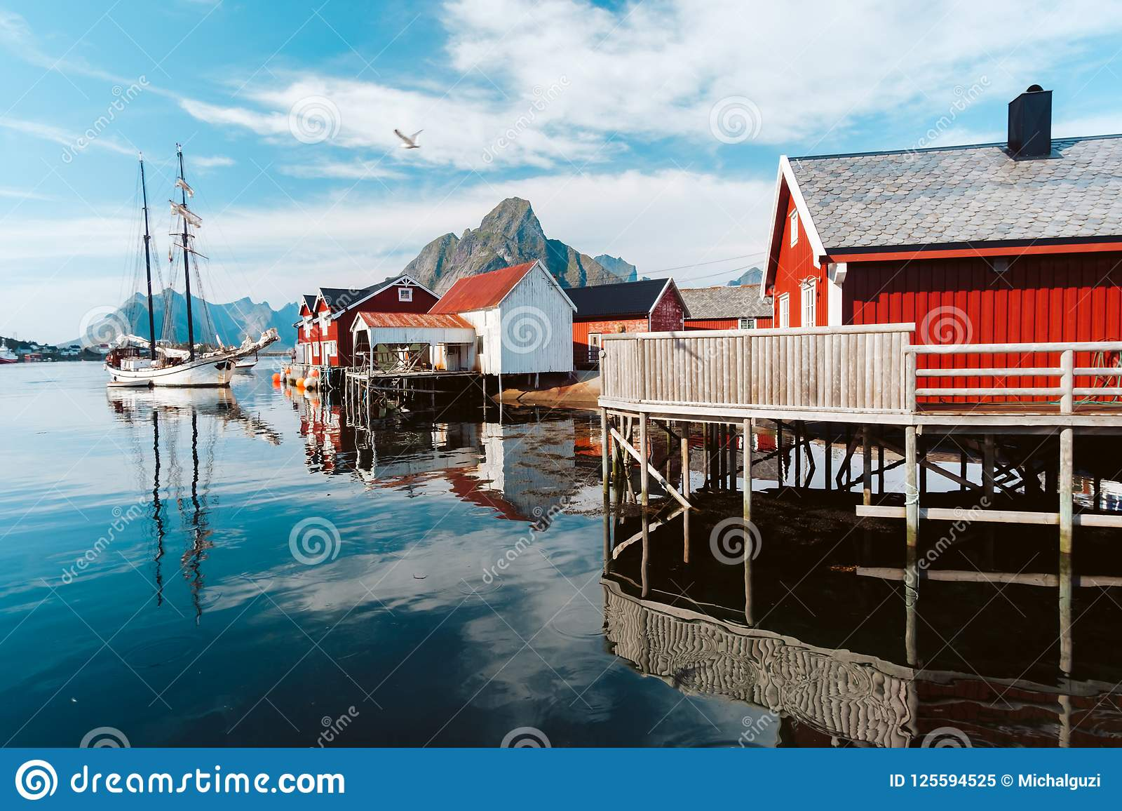 Reine Town in Norway