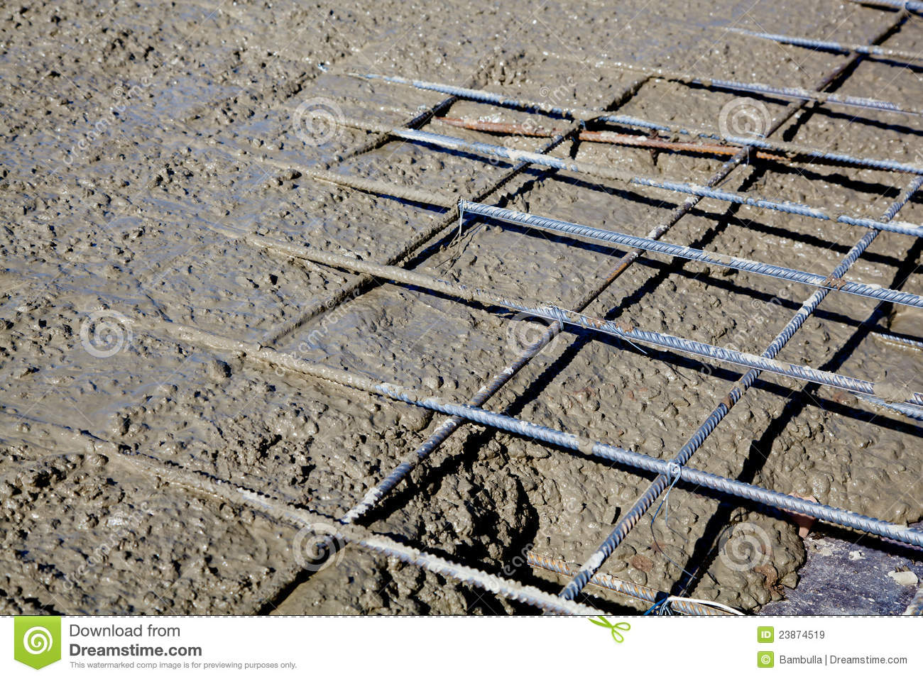 Reinforced Concrete Stock Image Image Of Roofing Pour