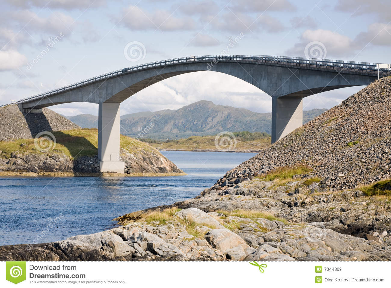 Reinforced Concrete Bridge Royalty Free Stock Images - Image: 7344809