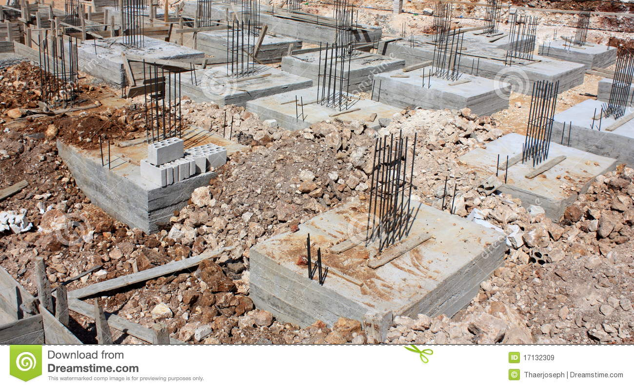 Reinforced concrete foundations royalty free stock images for How to read a foundation plan
