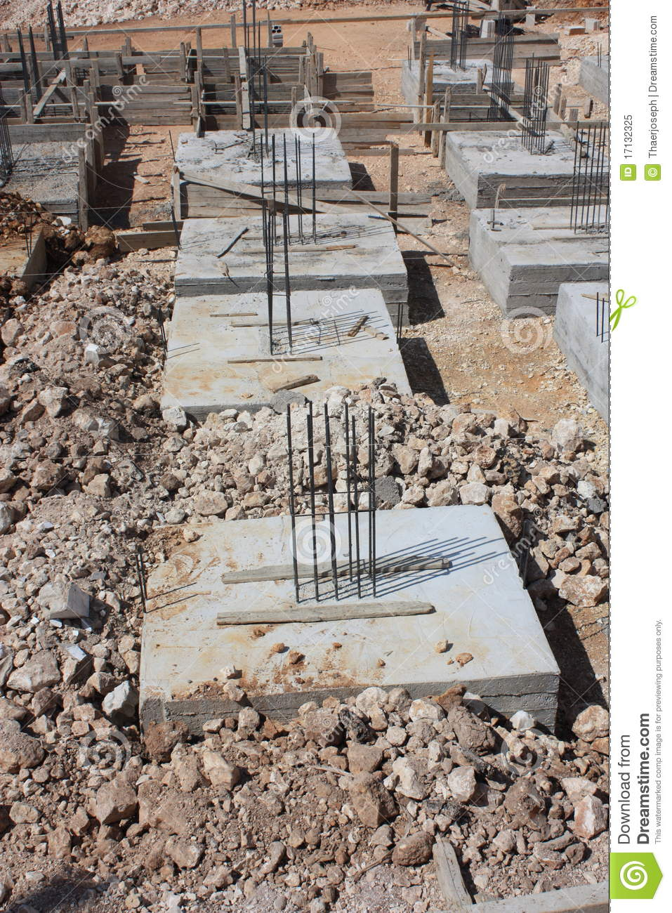What Foundations Do Makeup Artists Use: Reinforced Concrete Foundations Stock Image