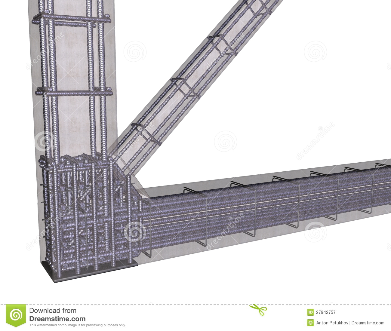 reinforced concrete frame structure An one-story one-sixth scale reinforced concrete structure consisting of shear walls, frames and floor diaphragms has been developed to be the test structure for this study.