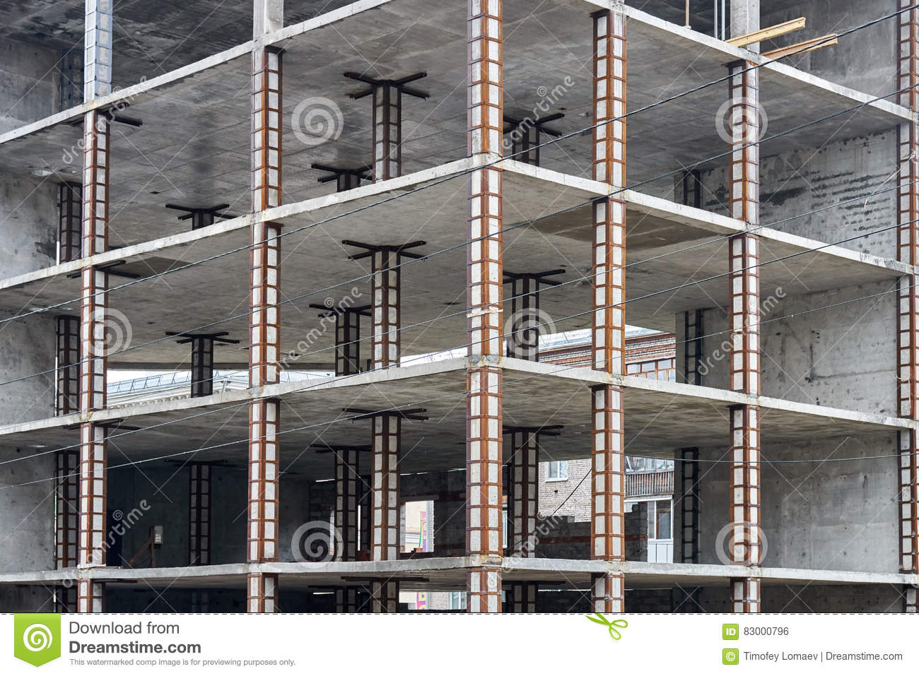 Reinforced Concrete Frame High Rise Building Stock Photo