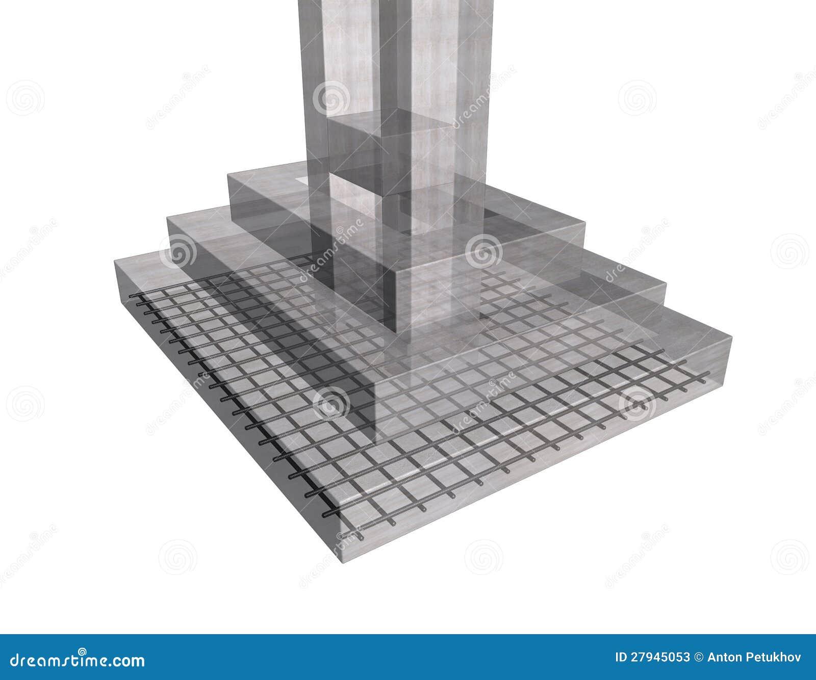 Reinforced Concrete Structure Stock Illustration Image