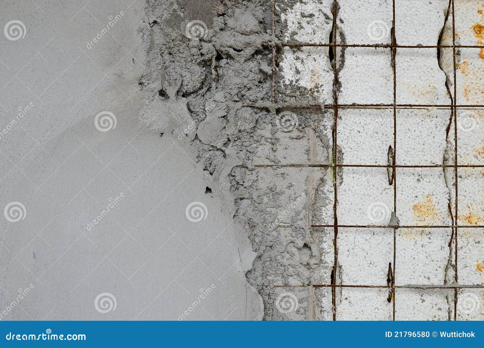 Reinforced Concrete Walls Within The Styrofoam Stock Photo