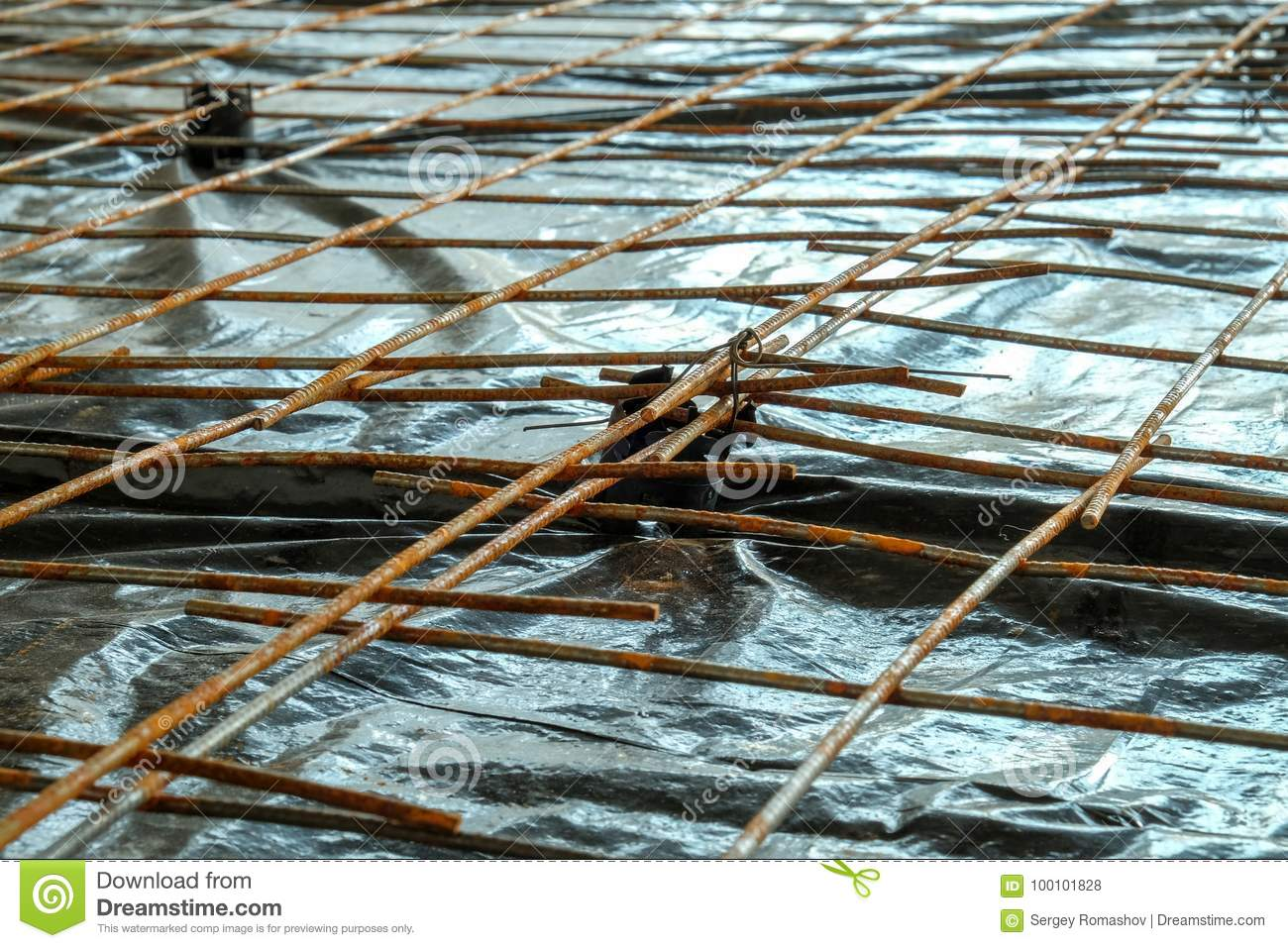 Reinforcing Mesh For Concrete Stock Photo - Image of industrial ...