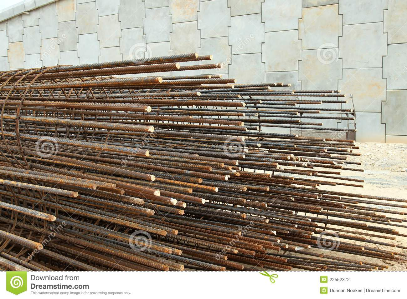 Steel Reinforcement Bars : Reinforcing steel bar and rods stock photo image