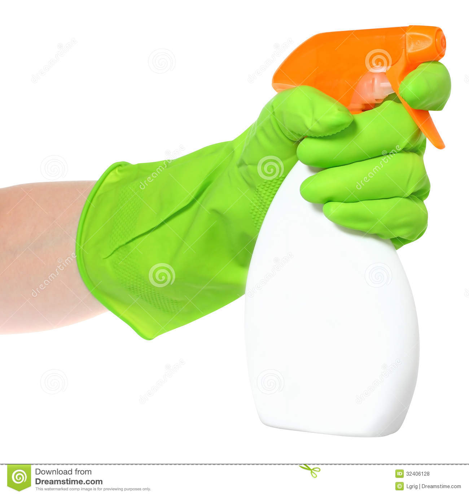 Reiniger in einer Hand