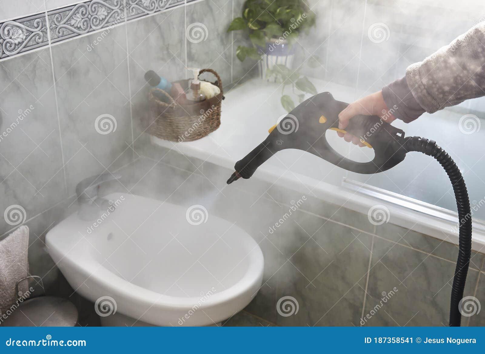 Reinigung Und Desinfektion Mit Dampfmaschine Stockbild   Bild von ...