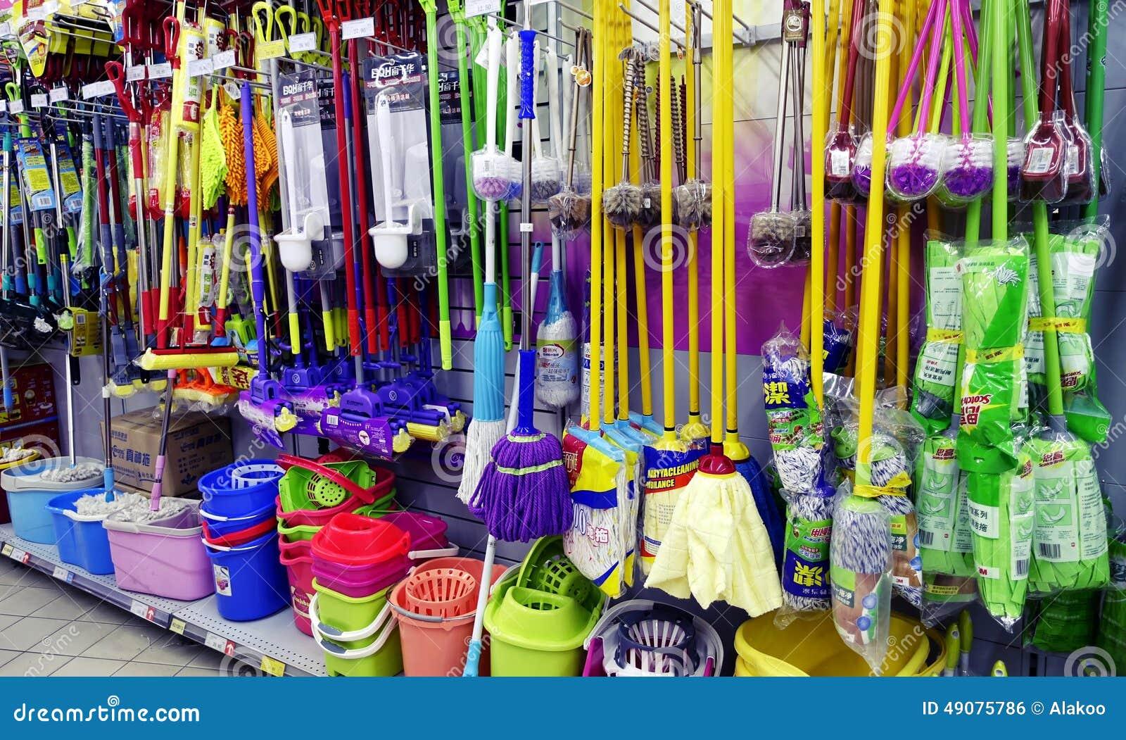 Reinigungswerkzeuge im Supermarkt