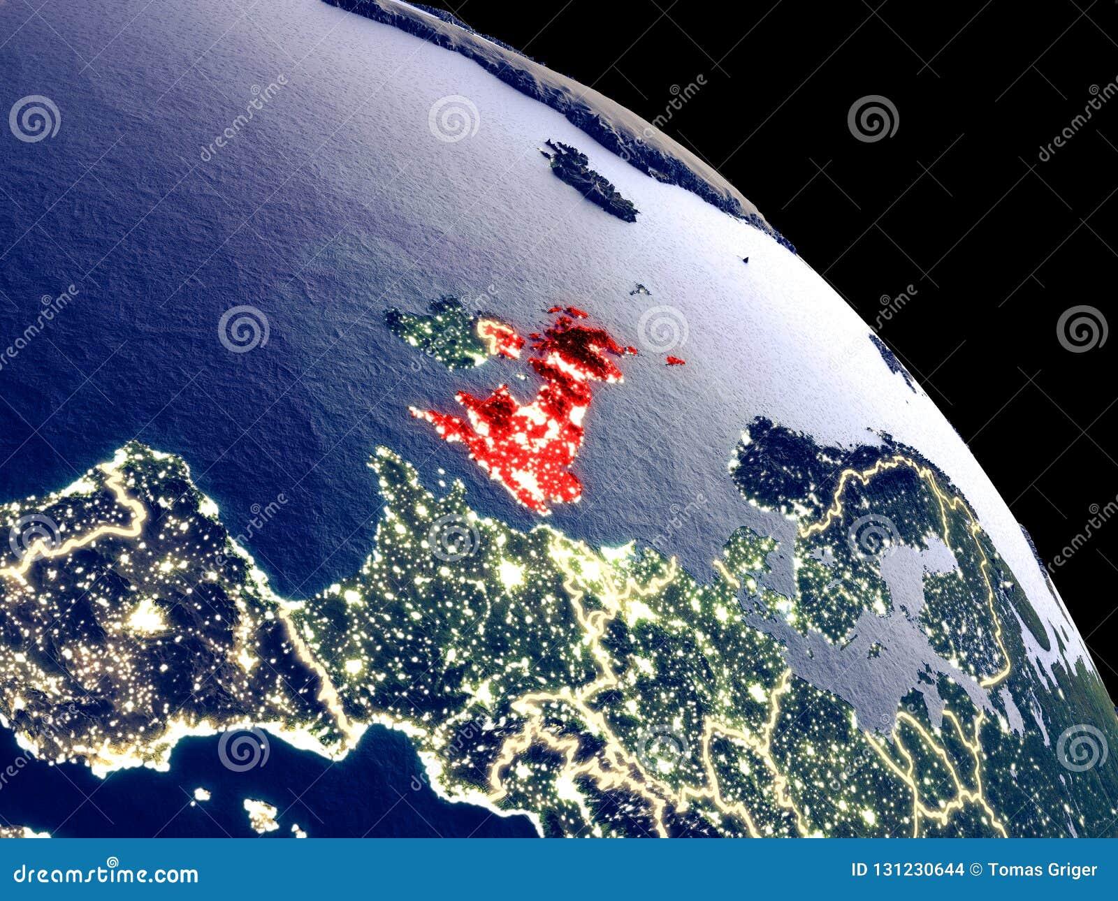 Reino Unido do espaço