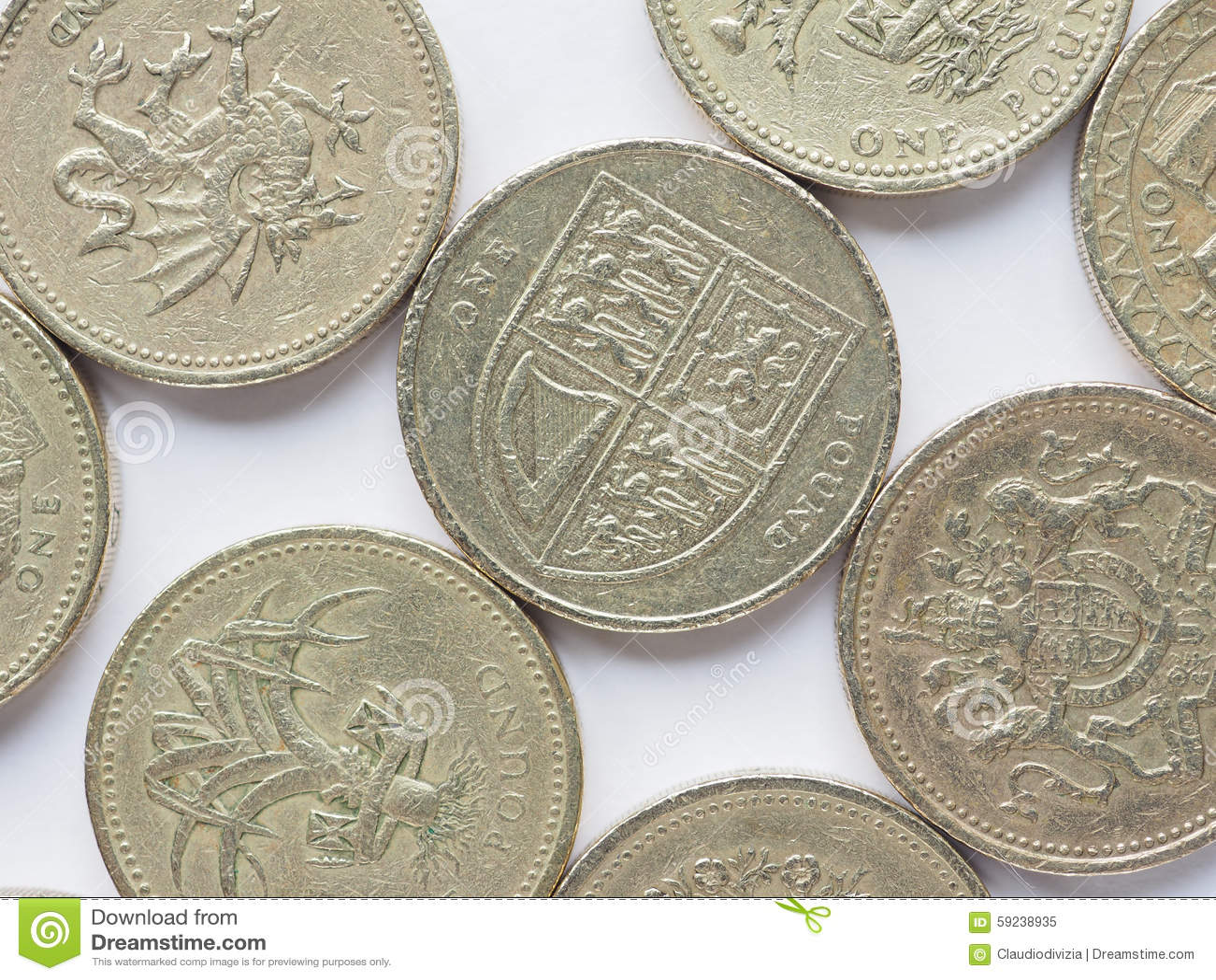Download Reino Unido Moneda De 1 Libra Imagen de archivo - Imagen de europeo, finanzas: 59238935
