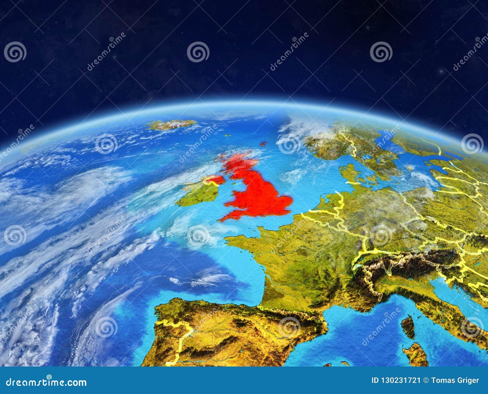 Reino Unido na terra do espaço