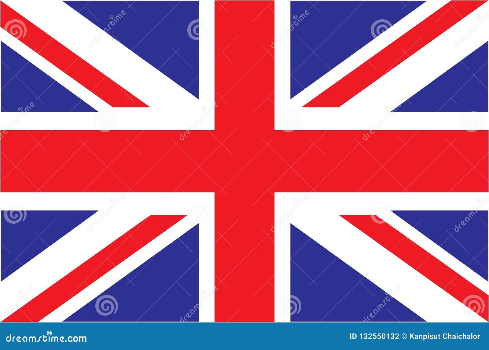Reino Unido Union Jack Indicador de Reino Unido Colores oficiales Proporción correcta
