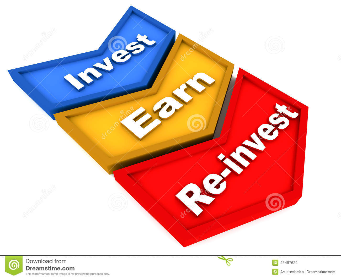 Reinvest Stock Illustration - Image: 43487629