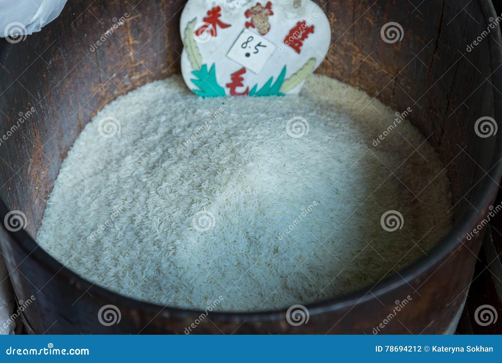Reis für großes Eisen rast auf dem Markt