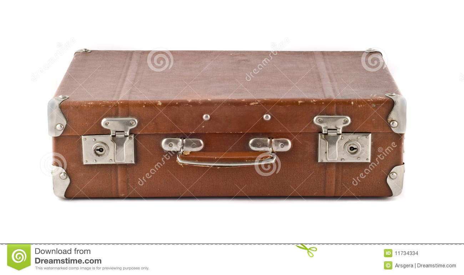 Reis - ouderwetse gekraste koffer (boomstam)