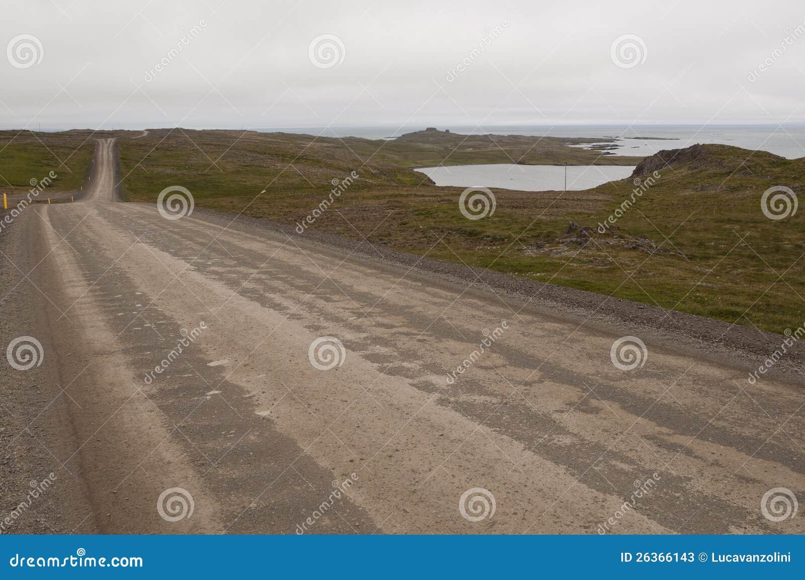 Reise auf der Straße in Island