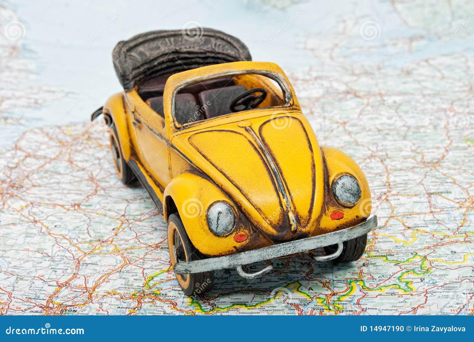 in Viaggiare mappa Immagine del autoUn'automobile sulla giocattolo Stock Fotografia dxtQhrCosB