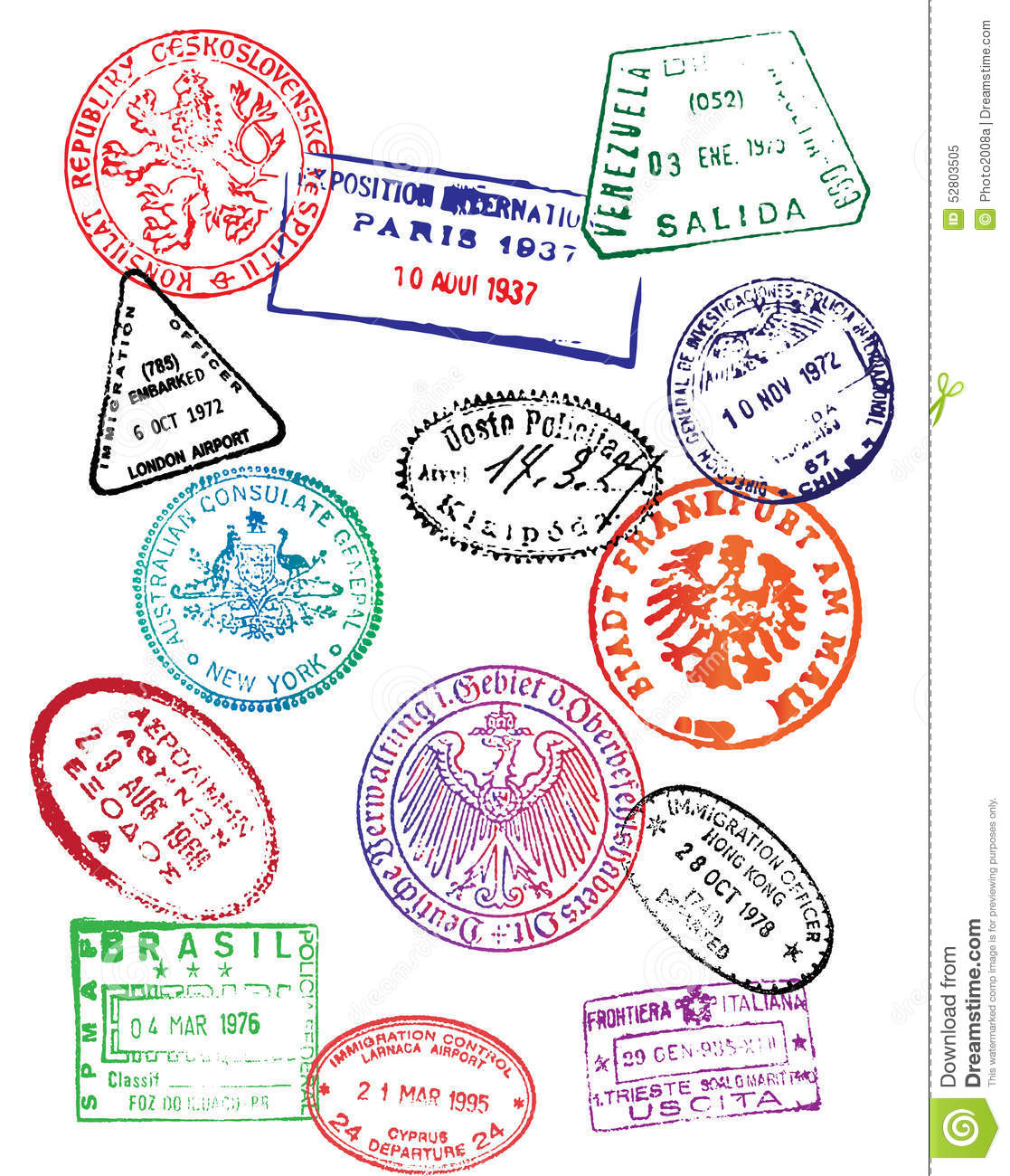 Passport Design Template