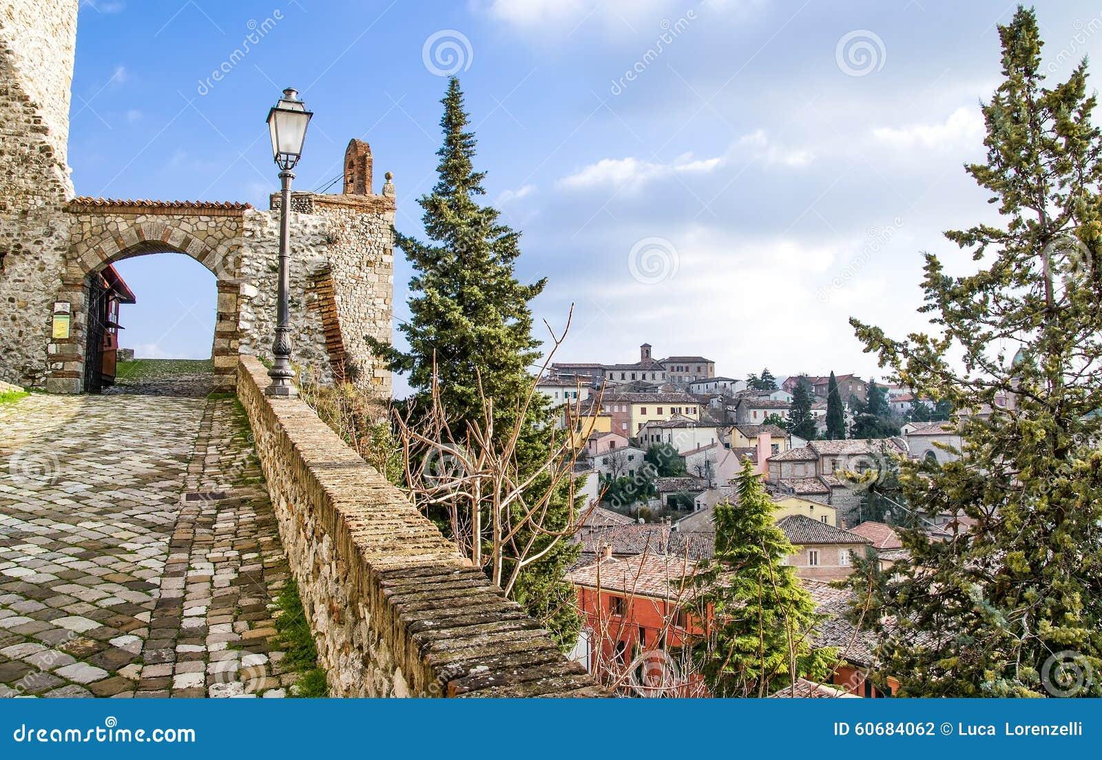 Reise Verucchio - Riminis - Emilia Romagnas - Italiens