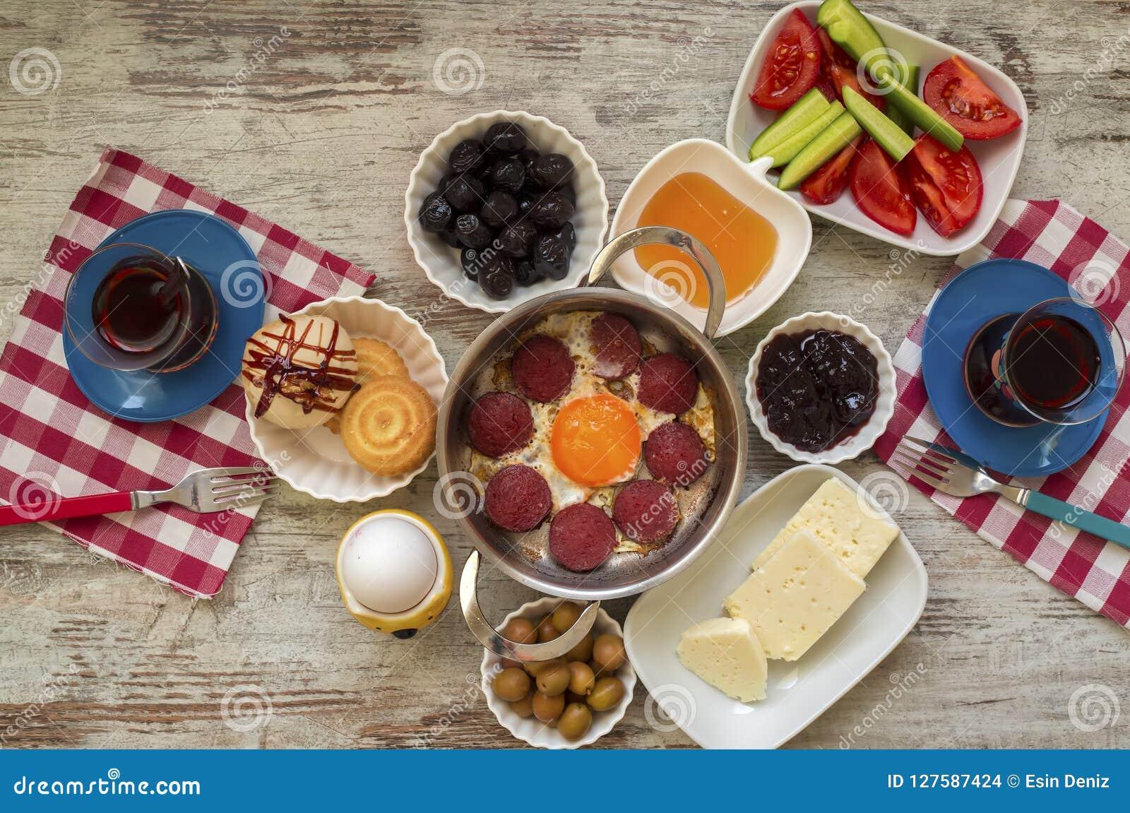 Reisekonzept Einrichtung Mit Traditionellem Türkischem Frühstück