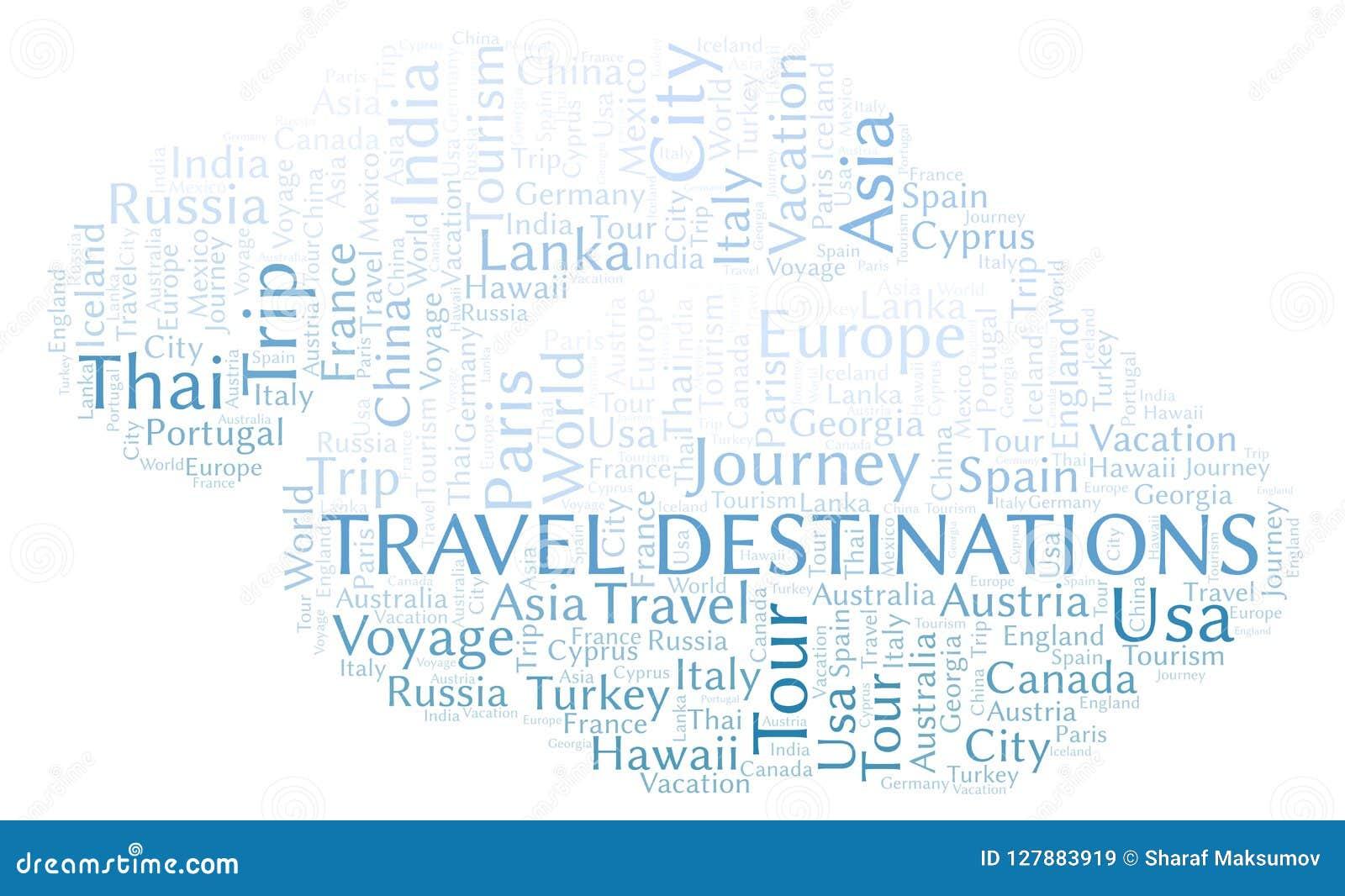 Reisezielwortwolke