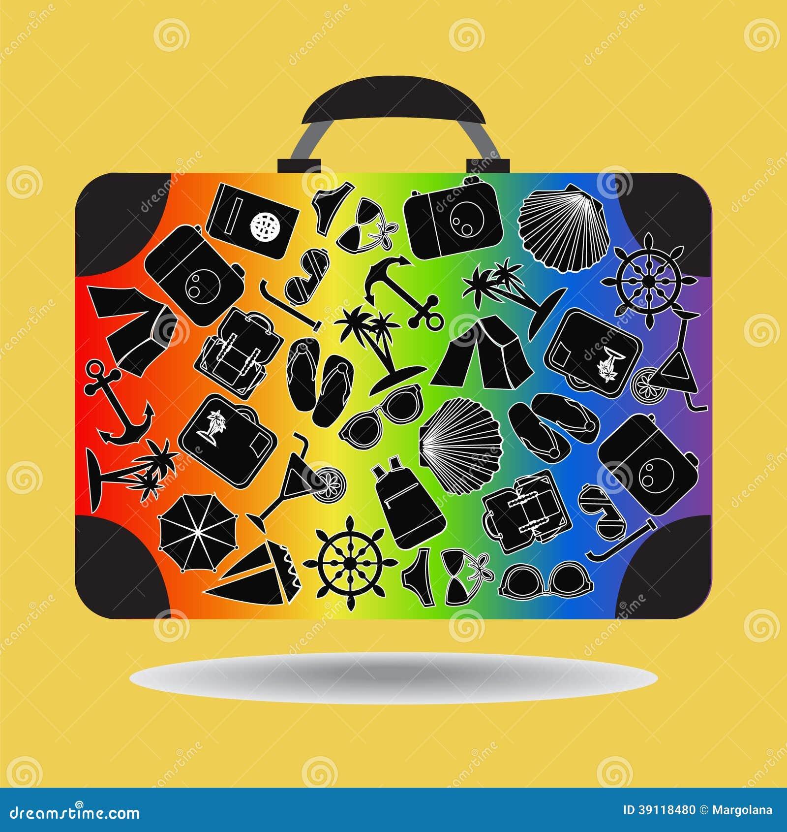 Reiskoffer - Illustratie