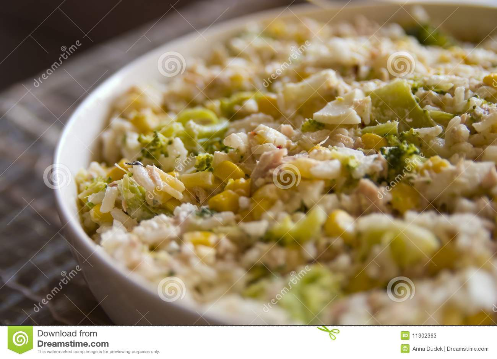 Reismahlzeit in einer Schüssel