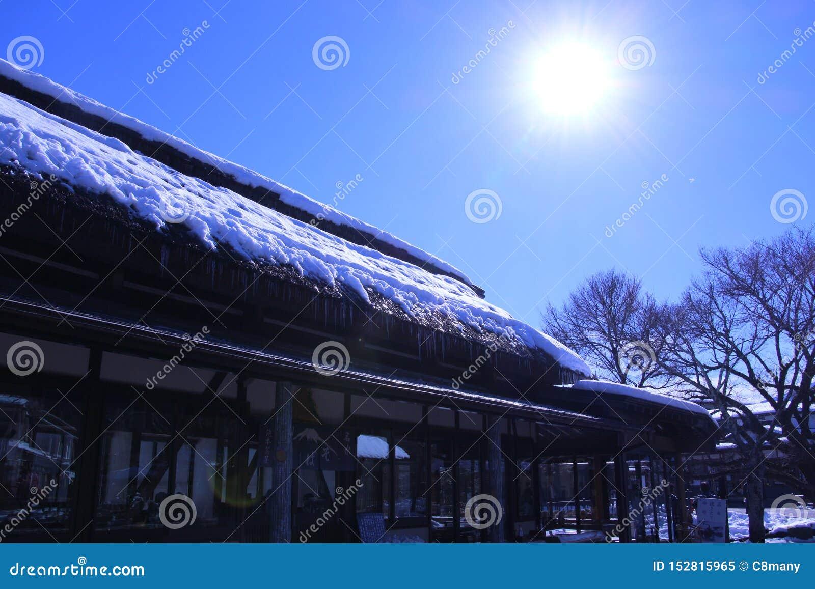 Reizende foto in de Winter van Japan