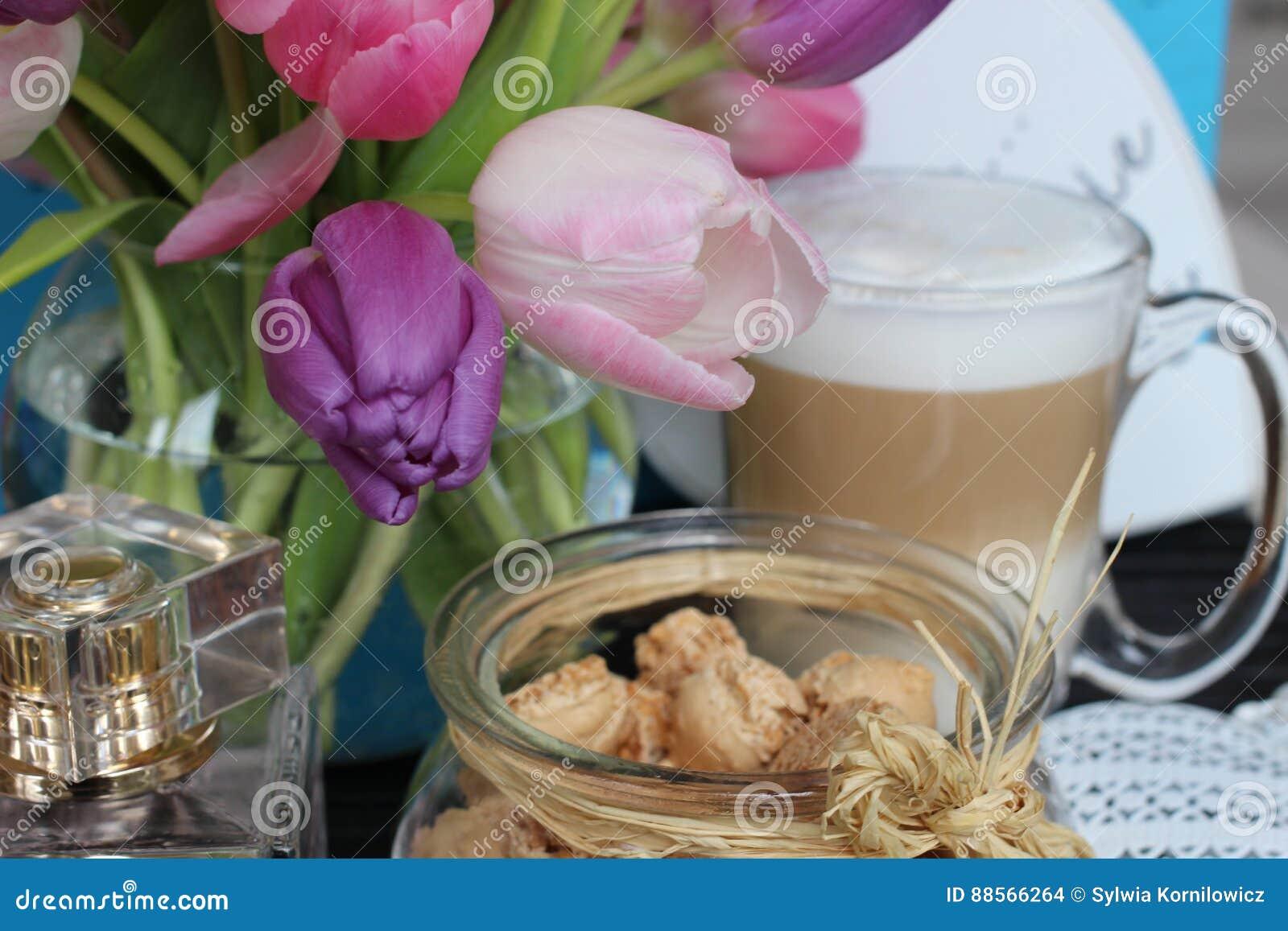 Reizender Tag, Zeit Für Kaffee, Frühlingszeit, Muttertag ...