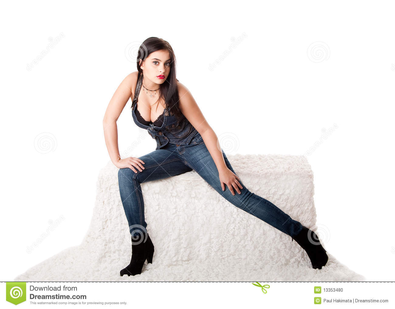 jeans hemd wenn brunett sexy boobs