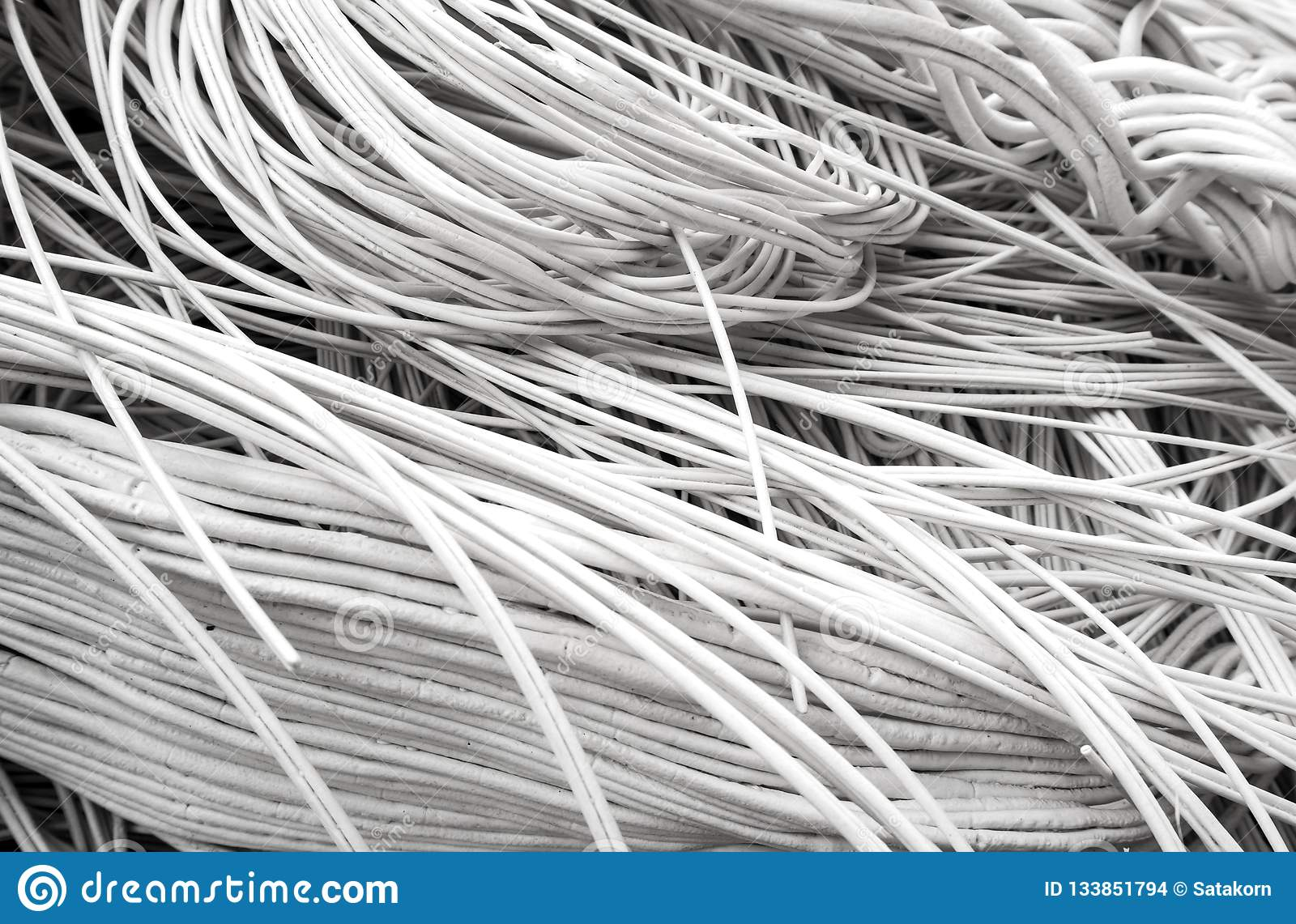 Reject Of Remelt High Density Polyethylene Products Stock Photo