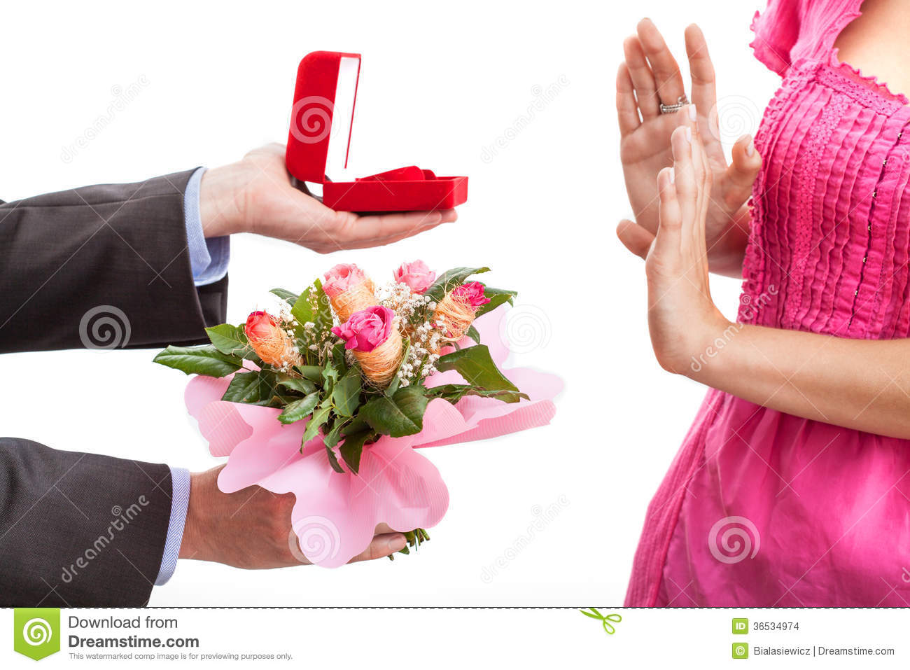 Rejected Proposal Stock Photo. Image Of Apology, Floral