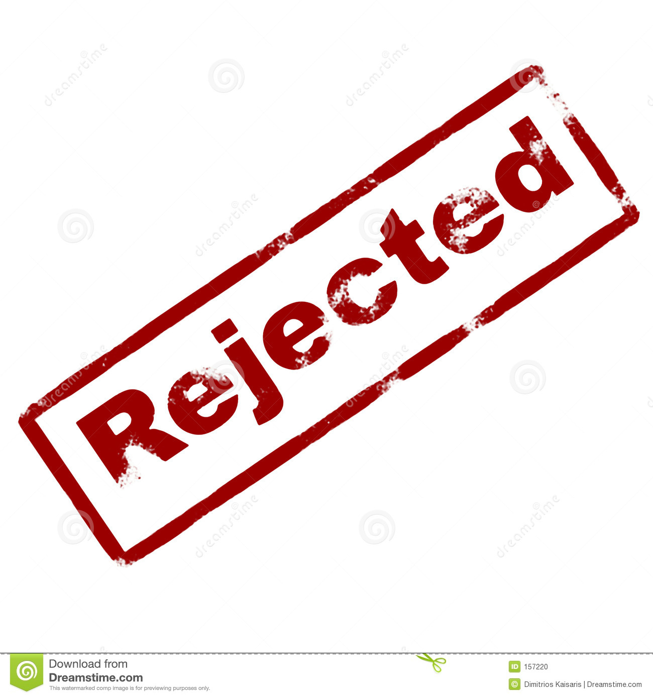 Rejected Rubber Ink Stamp Stock Photo Image 157220