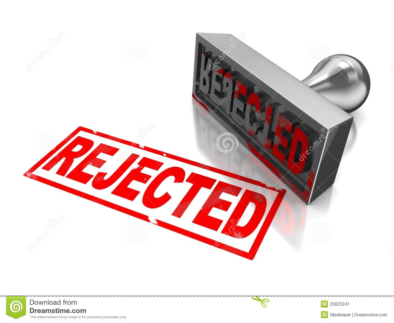 Rejected Stamp Stock Image Image 25623241