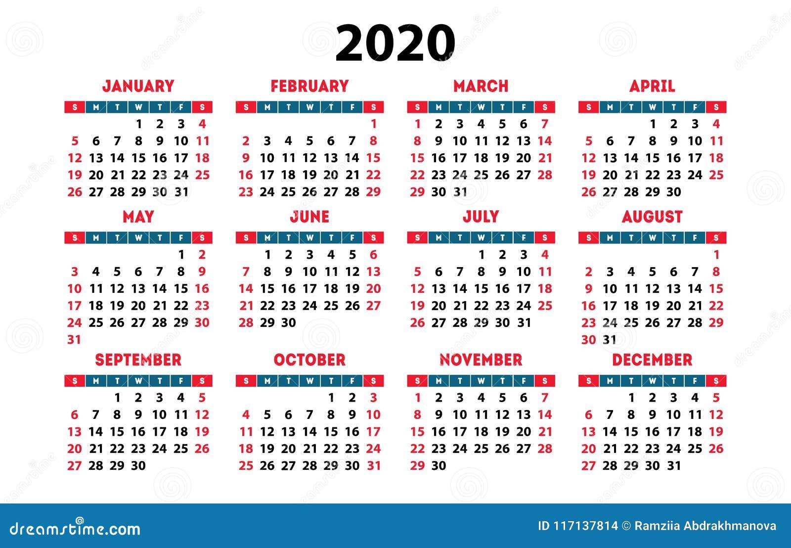 Calendario De Hacienda 2020.Calendario 2020 Espanol