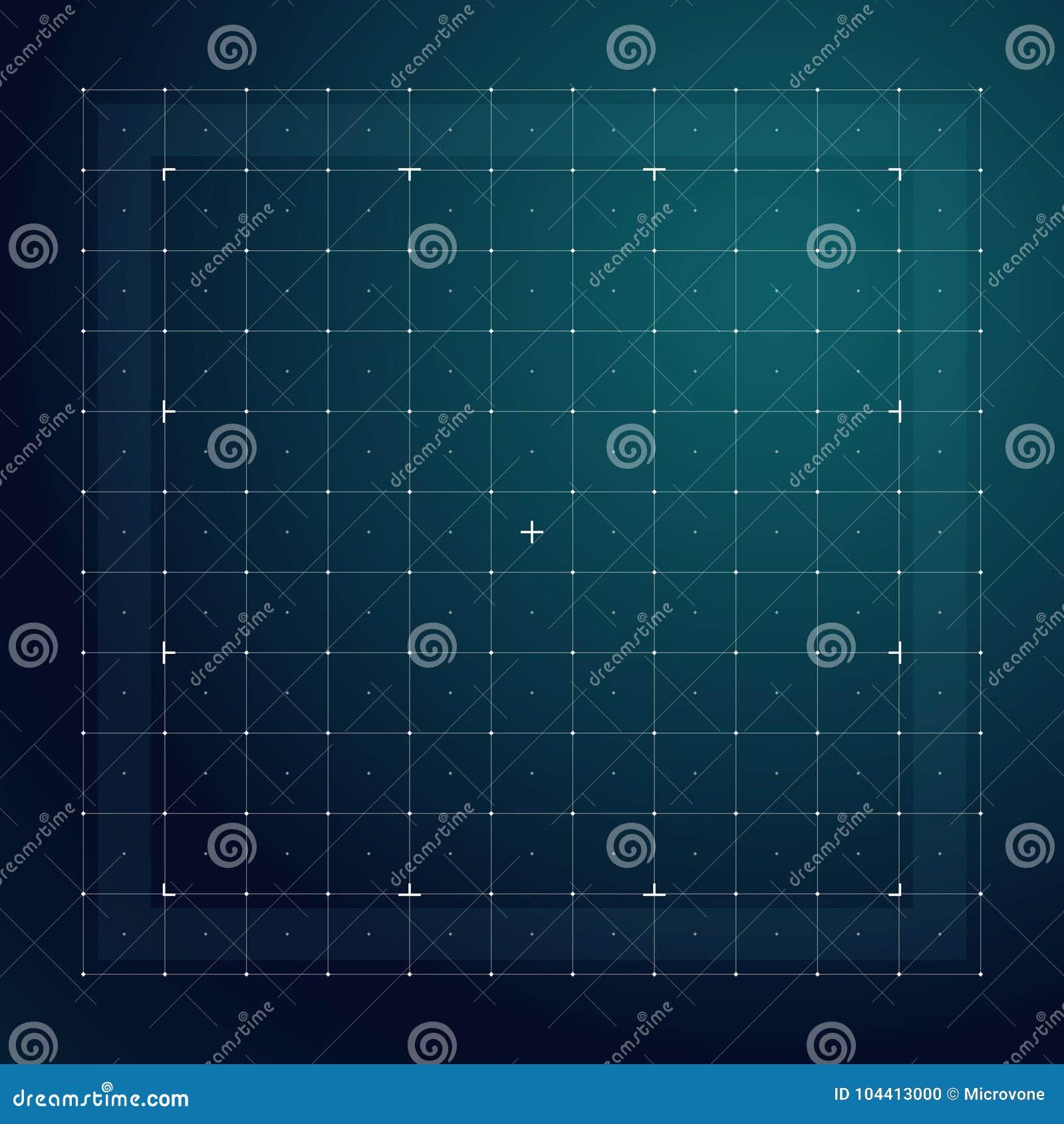 Rejilla para el interfaz futurista del hud Línea modelo del vector de la tecnología