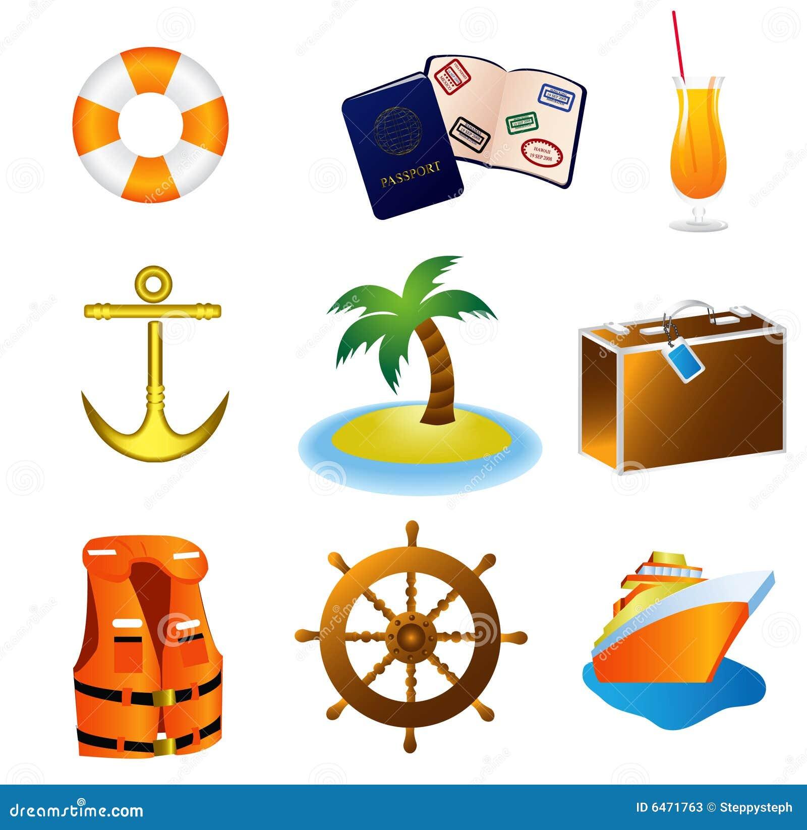 Rejs ikon podróży wakacji